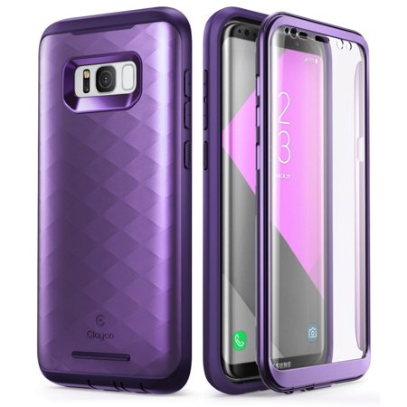 reputable site 8e570 930d2 Samsung Galaxy S8 Plus Case, Clayco [Hera Series] Full-body Rugged Case  with Built-in Screen Protector for Samsung Galaxy S8 Plus (2017 Release)
