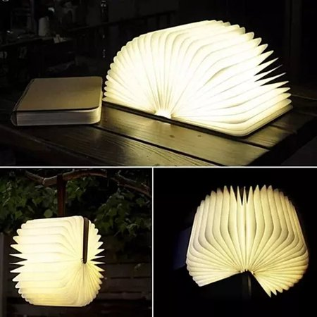 Lumio-Style Luxury LED Folding Book Lamp - Walmart.com