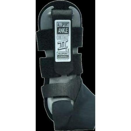 - Allsport Dynamics 144 Ortho-II Ankle Support - Right (Black, OSFM)