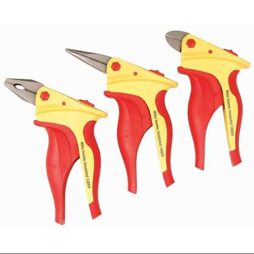 Wiha Tools Pliers and Cutter Set, Drop Forged Steel, 32859