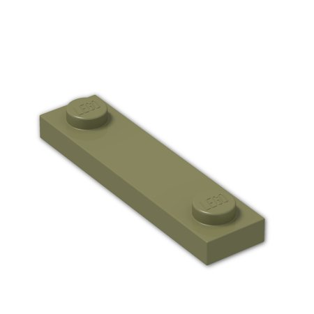 Brick Building Sets Original Lego Parts: Plate, Modified 1 x 4 with 2 Studs (92593 - Pack of 8) (Olive (4' Olive)