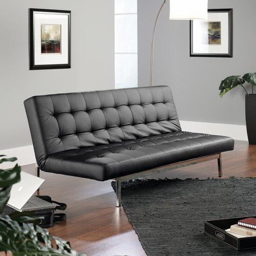 Sauder StudioEdge Avenue Convertible Sofa, Black DuraPlush