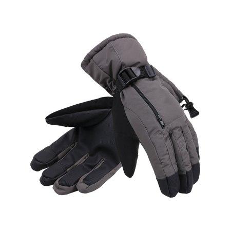 ANDORRA Men's Waterproof Thinsulate Touchscreen Winter Ski Gloves ,S,Grey ()