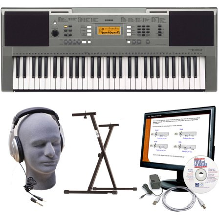 yamaha psr e353 premium keyboard package with headphones power supply usb cable emedia. Black Bedroom Furniture Sets. Home Design Ideas