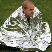 210*130CM Emergency Blanket Survival Rescue Insulation Curtain Outdoor Life-saving Gold