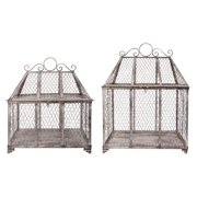 Esschert Design Aged Metal Wire Conservatory - Set of 2