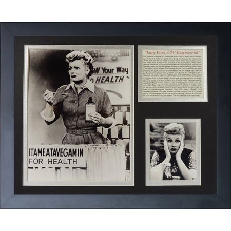 Legends Never Die I Love Lucy Vitameatavegamin Framed - Lucy Vitameatavegamin