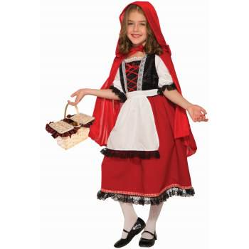Girls Deluxe Red Riding Hood Halloween Costume](Red Riding Hood Costume For Girls)