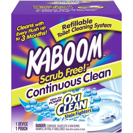 Kaboom Scrub Free! Continuous Clean Toilet Cleaning 1CT -
