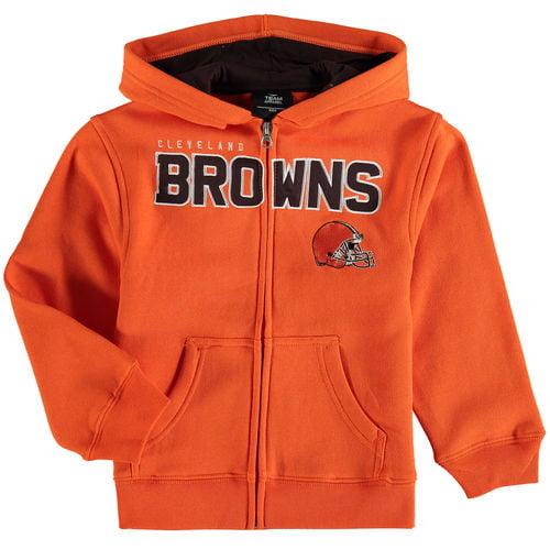 Preschool Orange Cleveland Browns Fan Gear Stated Full-Zip Hoodie