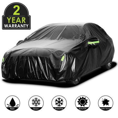 Waterproof Anti UV Folded Full Car Protective Cover With Reflective Strip Onli Folding Car Covers