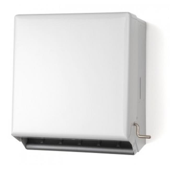 E-Z Taping System TD0185-17 Crank Roll Towel Dispenser in White