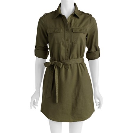 faded glory women 39 s military shirt dress