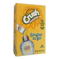 Crush Singles To-Go Pineapple Drink Mix, 0.45 Oz., 6 Packets