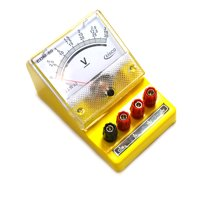 Eisco Labs Moving Coil Meters DC, Voltmeter 0 - 3 V, 0-15 V, 0-30 V (Triple)
