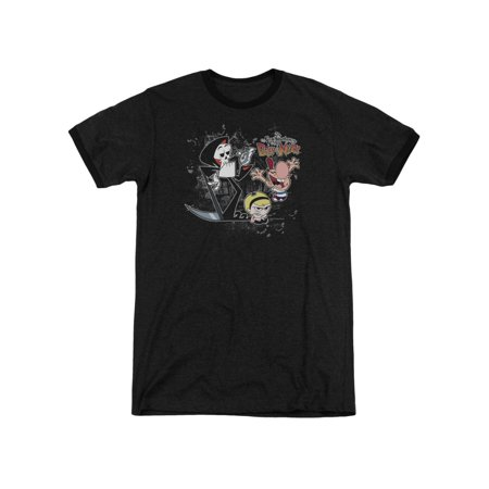 Grim Adventures of Billy & Mandy CN TV Splatter Cast Adult Ringer T-Shirt