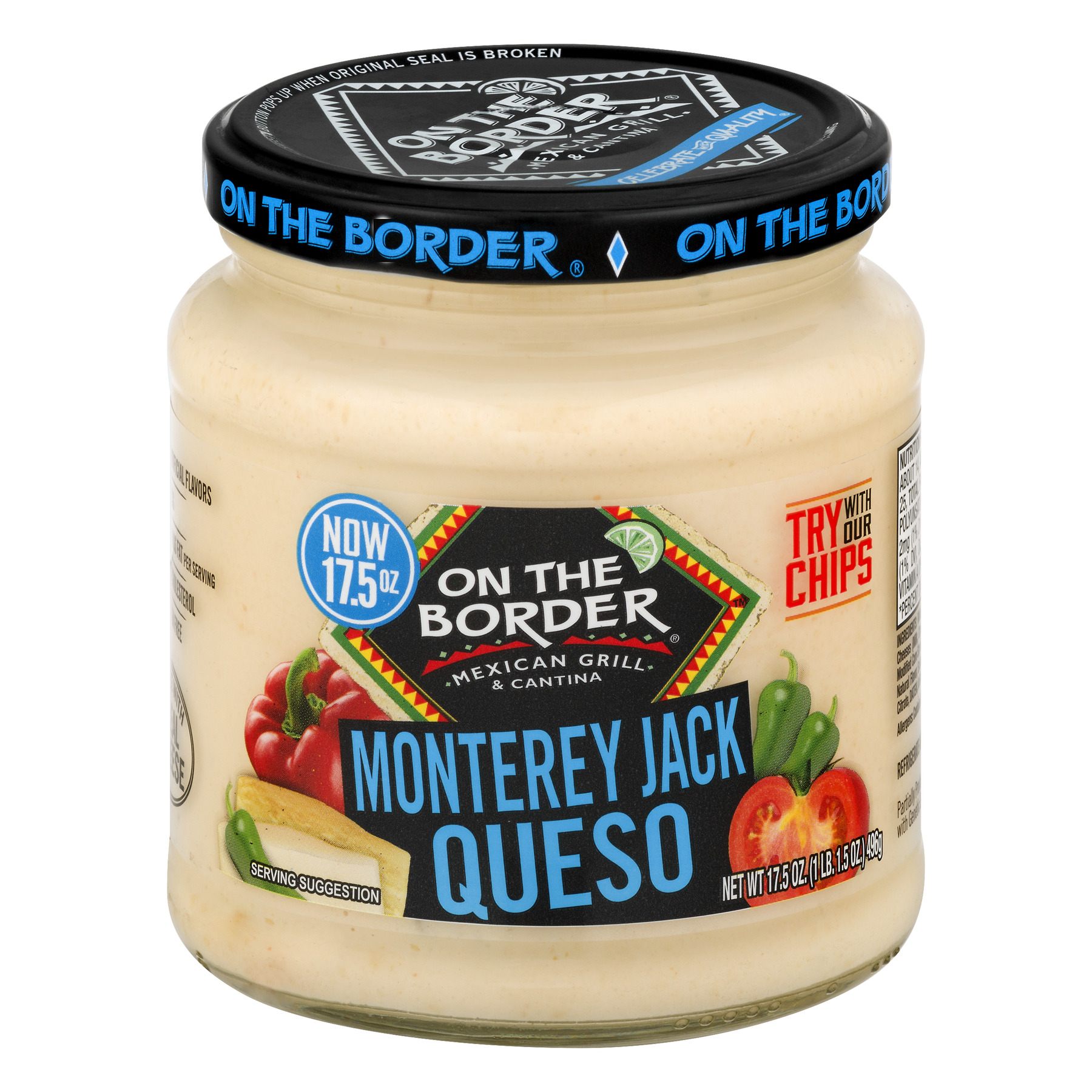 ON THE BORDER Monterey Jack Queso, 17.5 OZ