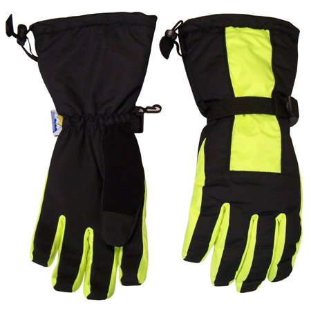 NICE CAPS Mens Extreme Cold Weather Winter 80 Gram Thinsulate Premier Waterproof Ski Snowboard Snow Glove with Long Cuff