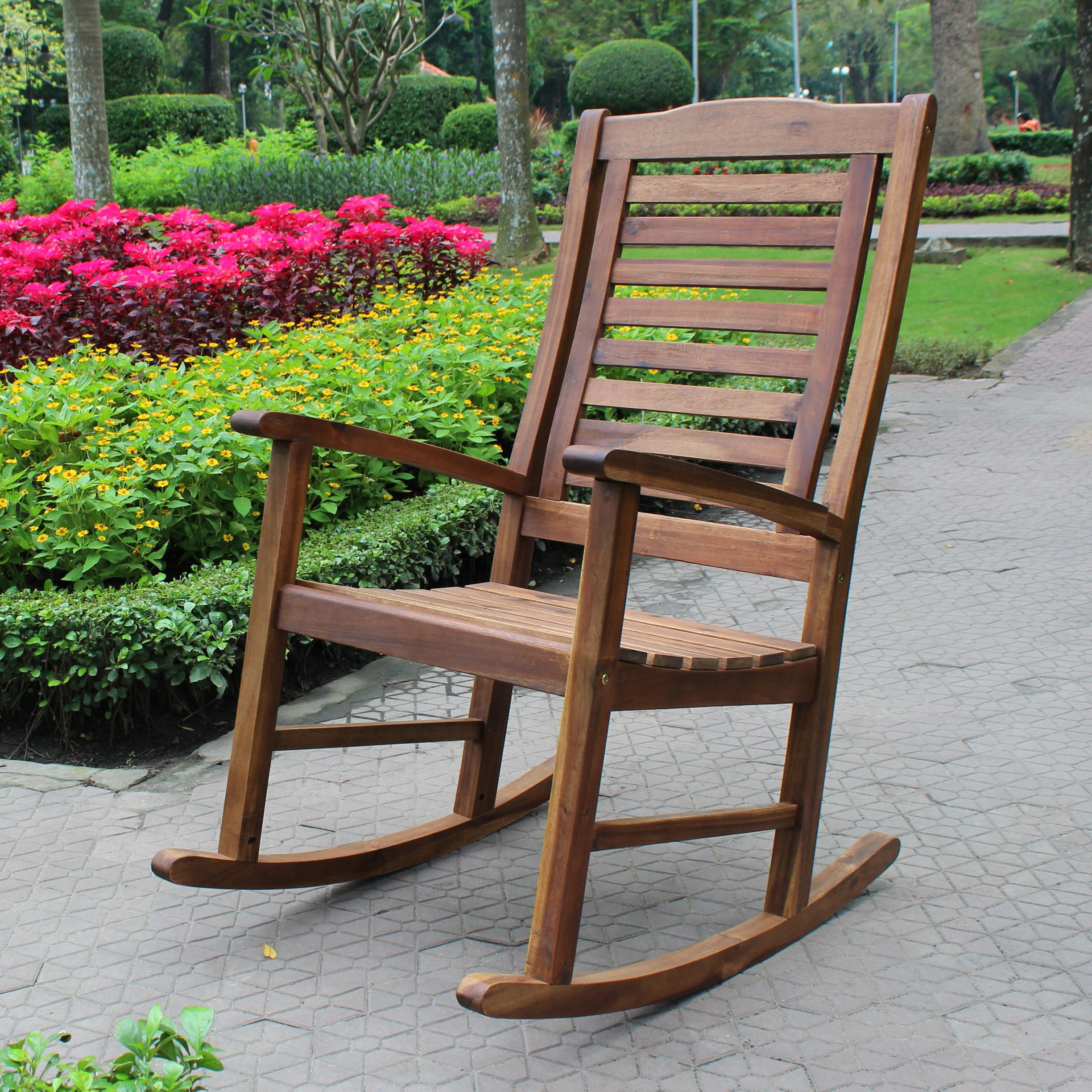 Highland Acacia Trinidad Porch Rocker w/Oil Finish