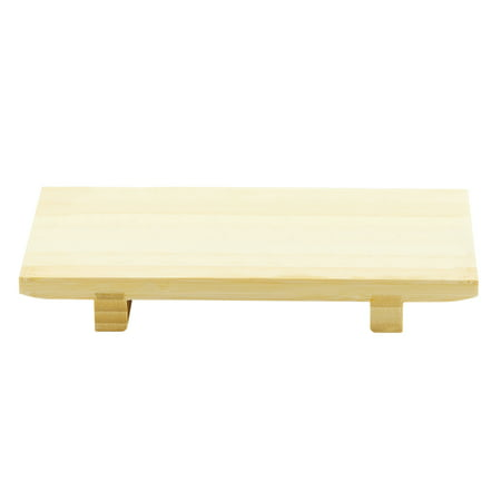 Helen Chen's Asian Kitchen Sushi Tray and Serving Board, All-Natural Bamboo, 9.5 x 6-Inch