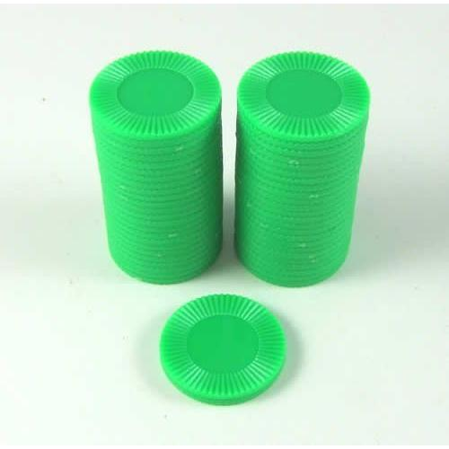 "One Tube of *50* 7//8/"" Ridged Plastic Black Chips! Koplow/'s Mini Poker Chips"