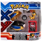 Pokemon TOMY Catch n Return Pokeball Helioptile & Quick Ball Figure Set