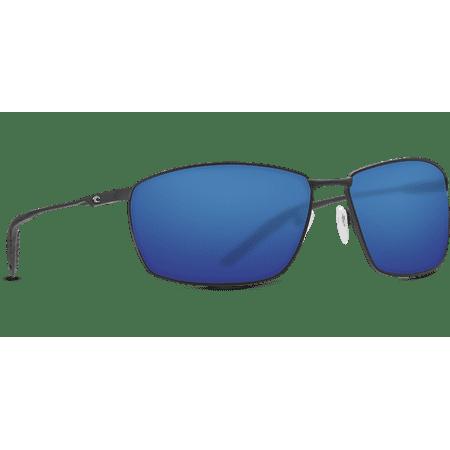 Costa Del Mar Turret Sunglasses, Matte Black, Blue Mirror, 580P - TRT 11 OBMP (580p Costa Del Mar)