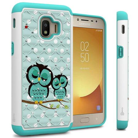 - CoverON Samsung Galaxy J2 Core / J2 Pure / J2 Dash Case, Aurora Series Rhinestone Phone Cover