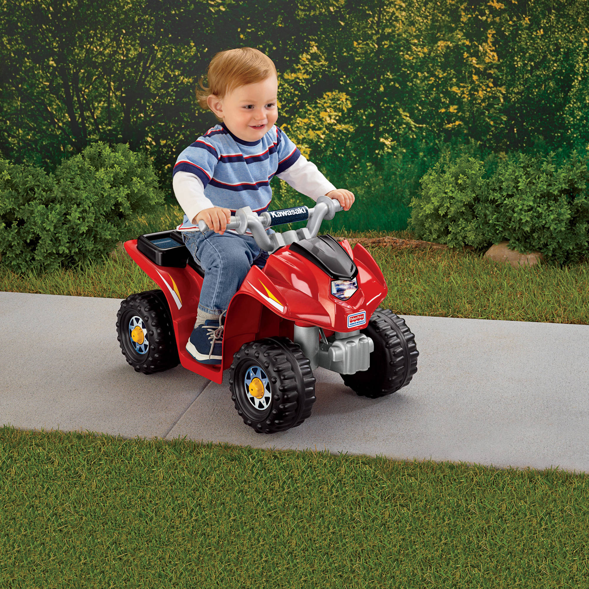 Fisher-Price Power Wheels Lil' Kawasaki 6-Volt Battery-Powered Ride-On