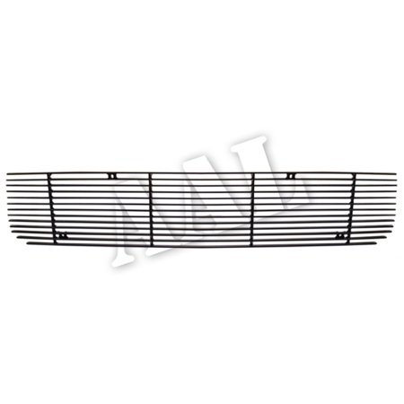 AAL BLACK BILLET GRILLE / GRILL INSERT For 2005 2006 2007 2008 2009 FORD MUSTANG GT V8 ( logo covered) 1PC UPPER REPLACEMENT(Black)