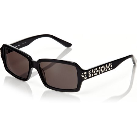 Sonia Rykiel Black Frame with Grey Lenses and Studded Detail - Brunette With Sunglasses