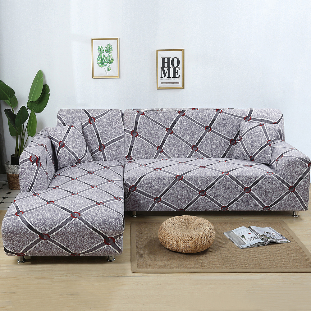 Eleoption 2018 Hot L Shape Stretch Fabric Sofa Cover 3 3 Seats