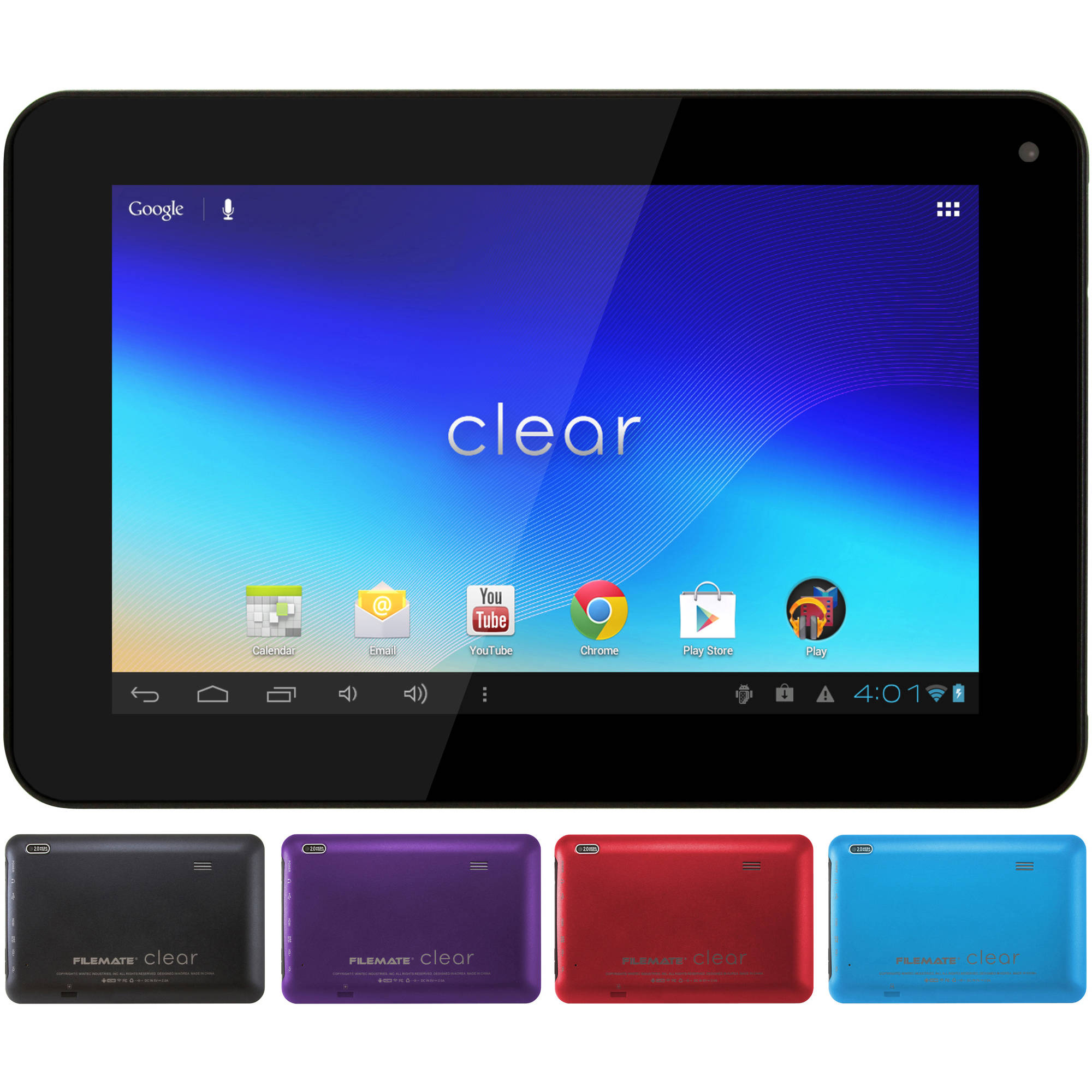 """FileMate Clear 7"""" Tablet 16GB Memory"""