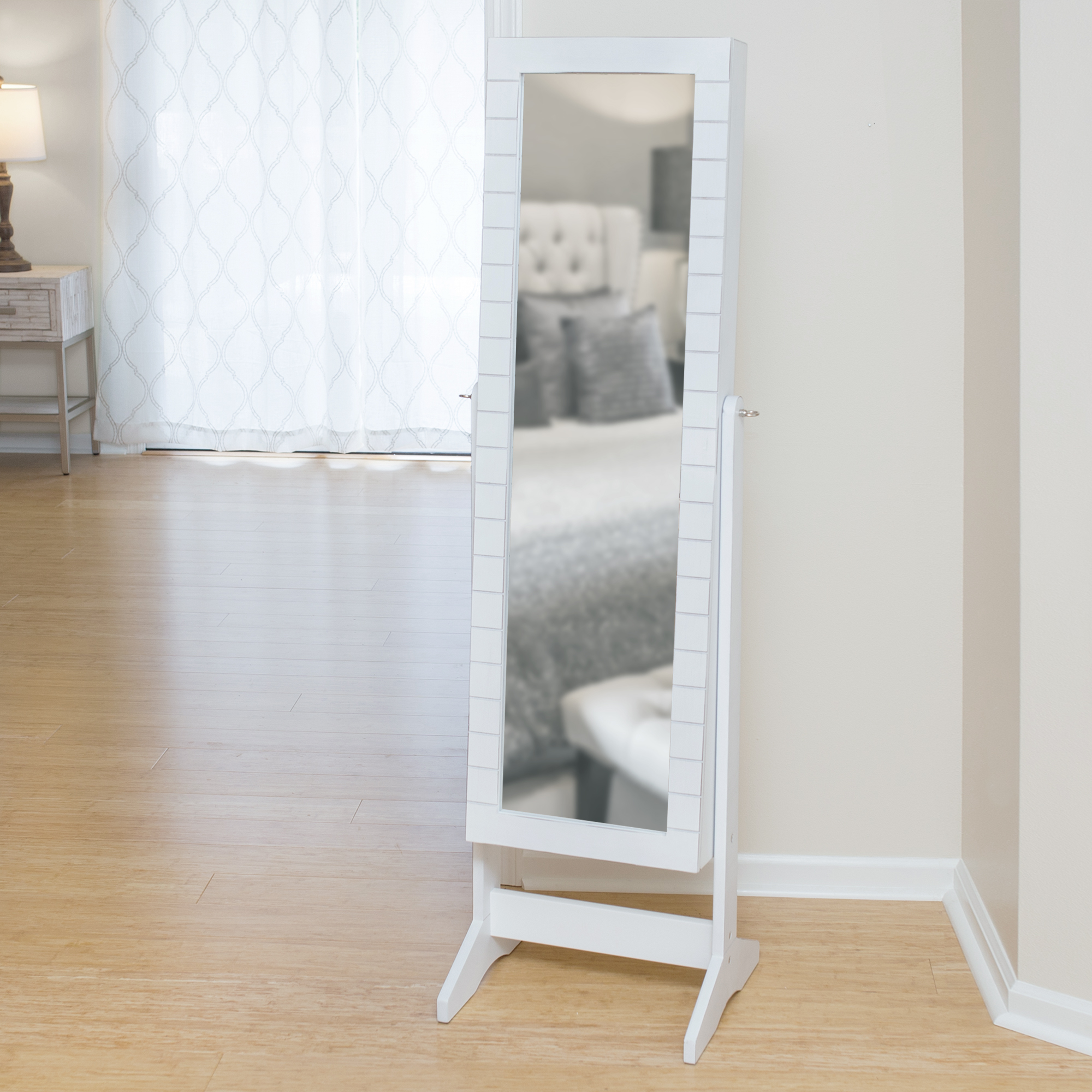 Armoire D Angle Dressing firstime & co.® shiplap cheval jewelry armoire - walmart