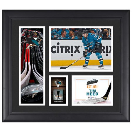 Tim Heed San Jose Sharks Framed 15   X 17   Player Collage With A Piece Of Game Used Puck   No Size