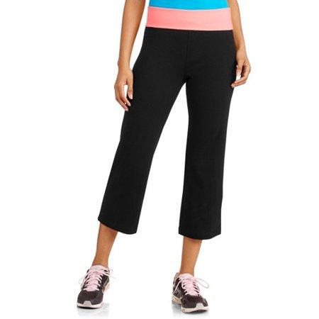 c9faabc33c No Boundaries - Juniors' Flare Cropped Yoga Pants - Walmart.com