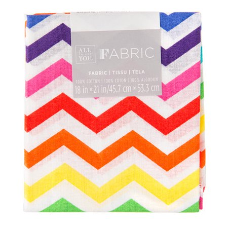 Chevron Quilting Fabric Fat Quarters: Rainbow, 18 x 21 inches