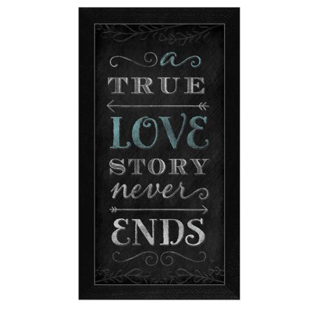 "''A True Love Story Never Ends"" by Mollie B Printed Framed Wall Art - image 2 de 2"