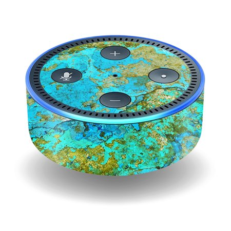 Skin Decal Wrap For Amazon Echo Dot  2Nd Generation  Stickers Teal Marble