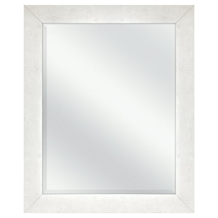 "Mainstays White-Washed Beveled Wall Mirror, 27"" x 33"""