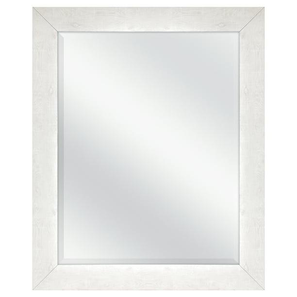 Mainstays White Washed Beveled Wall Mirror 27 X 33 Walmart Com Walmart Com