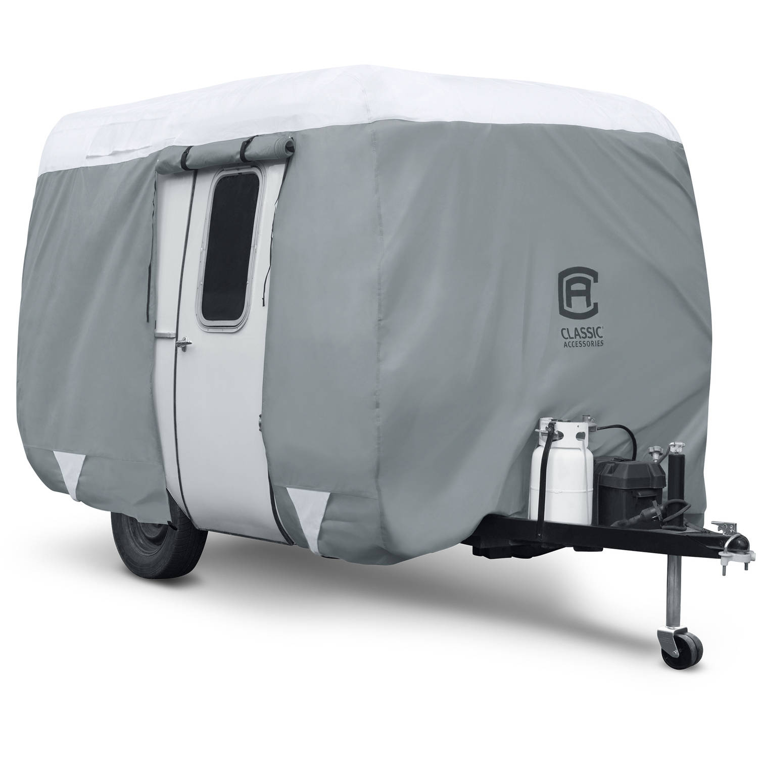 Classic Accessories PolyPRO 3 Molded Fiberglass Travel Trailer RV Cover, Fits 8' - 10' Trailers