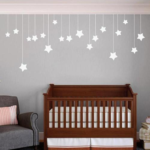 Sweetums Hanging Stars' 44 x 18-inch Medium Wall Decals