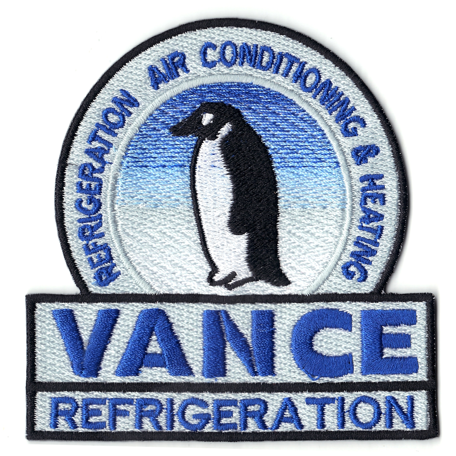 Vance Refrigeration With Penguin Logo Iron On Patch