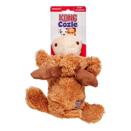 KONG Cozie Marvin-Moose Brown, (Kong Cat Toy Naturals)