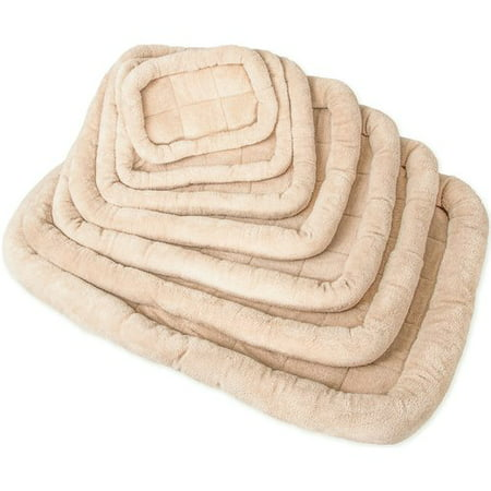 OxGord Fleece Portable Cushion Pad Pet Bed for Cage, 2 Velcro Floor Straps