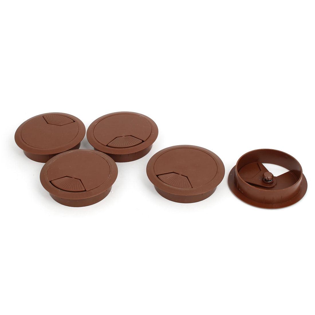 Round Desk Grommet 80mm Brown