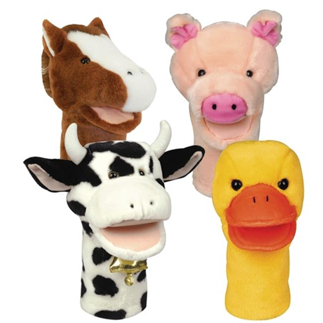 Get Ready 200123 Bigmouth Farm Puppets-Pig  Cow  Duck  Horse