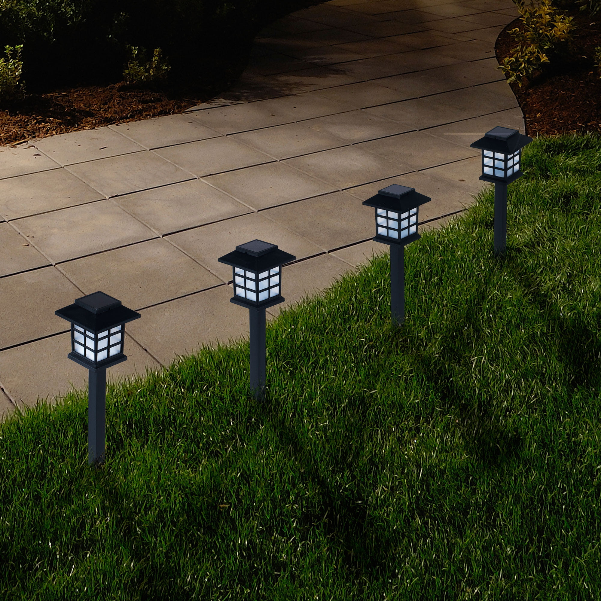 Outdoor Lantern Solar Landscaping Lights Set Of 6 By Pure Garden Walmart Com Walmart Com