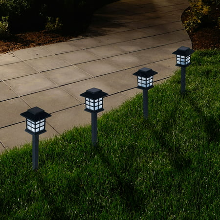 Solar Light Fixtures (Outdoor Lantern Solar Landscaping Lights - Set of 6 by Pure)